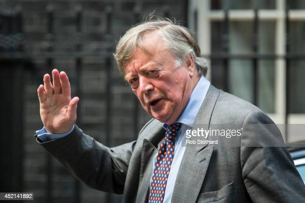 Minister without Portfolio, Kenneth Clarke, arrives in Downing Street on July 14, 2014 in London, England. Whitehall sources have indicated that...