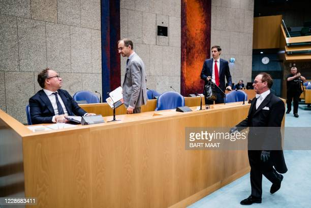 Minister Wouter Koolmees of Social Affairs and Employment , Minister Eric Wiebes of Economic Affairs and Climate and Minister Wopke Hoekstra of...