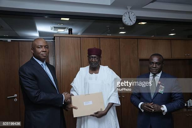 Ministerial list presented to Senate President Bukola Saraki in Abuja Nigeria on 30 September 2015