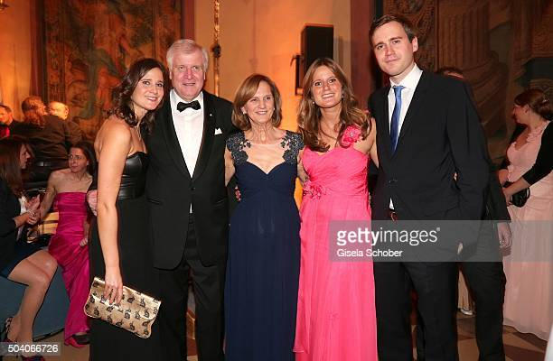 MinisterPresident Horst Seehofer and his wife Karin Seehofer daughter Ulrike daughter Susanne and son Andreas Seehofer during the new year reception...