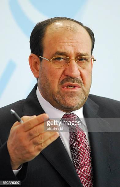 Ministerpräsident Nouri AlMaliki während einer Pressekonferenz in Berlin