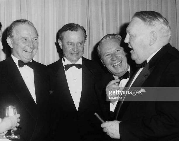 Ministers at a dinner given by the West German Ambassador at his embassy in London 26th January 1962 Left to right British Chancellor of the...