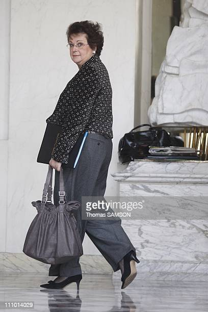Ministers Council at the Elysee Palace in Paris France on December 10th 2008 Christine Boutin