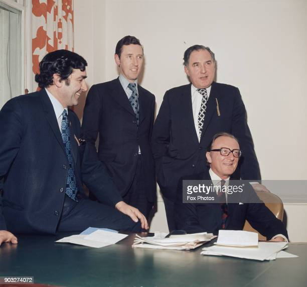 Ministers for the Department of Energy from left to right Patrick Jenkin Minister for Energy David Howell Minister of State Energy Peter Emery...