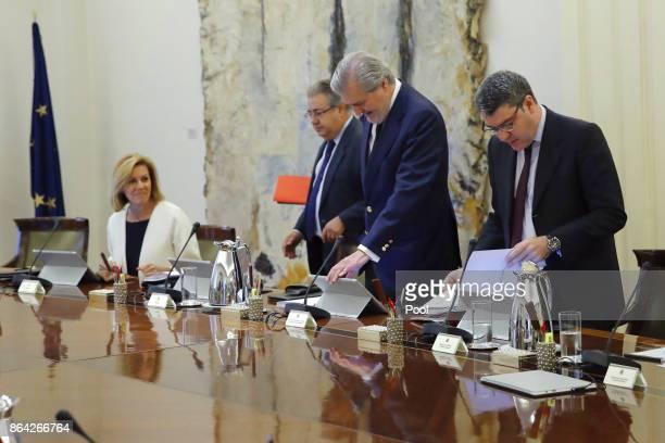 Ministers of Defense Maria Dolores de Cospedal Interior Juan Ignacio Zoido Education Culture and Sport Inigo Mendez de Vigo and Energy Tourism and...