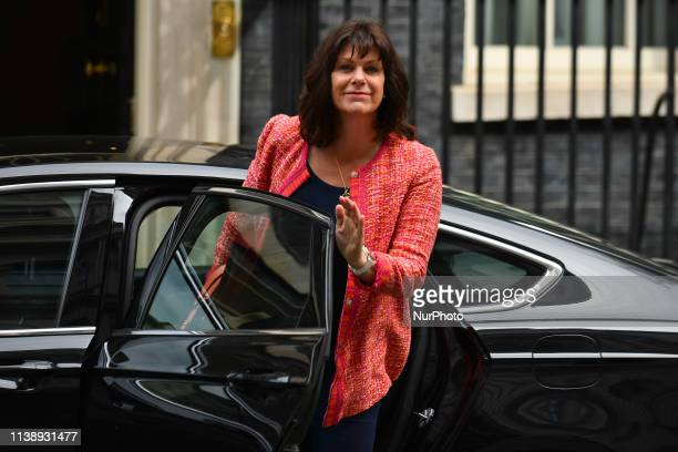 Ministers of the British Government arrive at 10 Downing Street to attend the first Cabinet Meeting after Parliament recess, London on April 23, 2019.