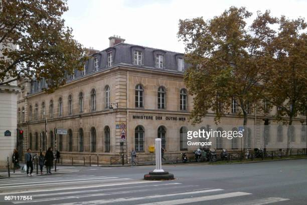 ministère des outre-mer in paris - gwengoat foto e immagini stock