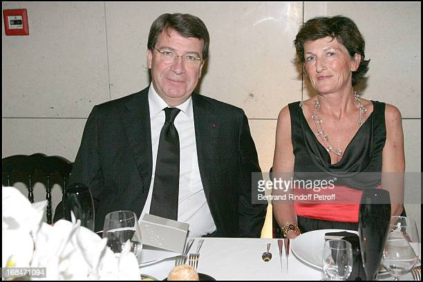 Ministre Xavier Darcos and Madame Christophe De Margerie at Romeo And Juliet Gala Performance At L'Opera Bastille In Aid Of L'Arop