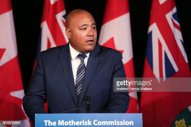 Ministry of Children and Youth Services, Michael Coteau during a news conference for the release of the Motherisk Commission's final report, February...