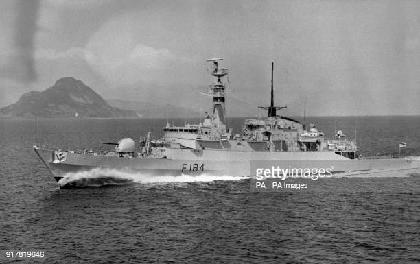 Ministry of Defence picture of the Type 21 Amazon class frigate HMS Ardent.