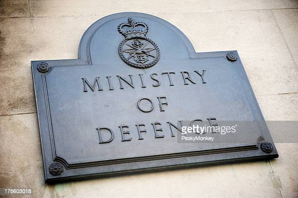 Ministry of Defence Plaque Sign London UK