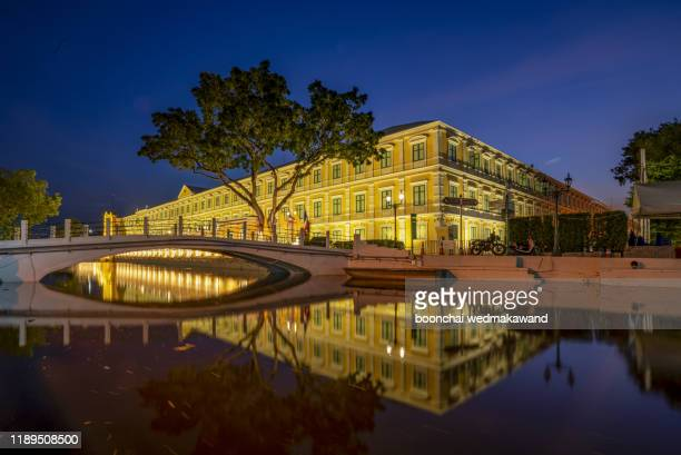 ministry of defense with water reflection of thailand - department of defense stock pictures, royalty-free photos & images