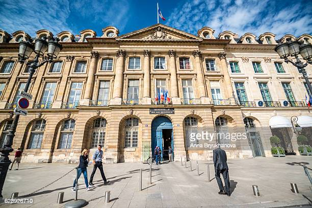 ministry of justice on place vendome, paris, france - ministry of justice stock pictures, royalty-free photos & images