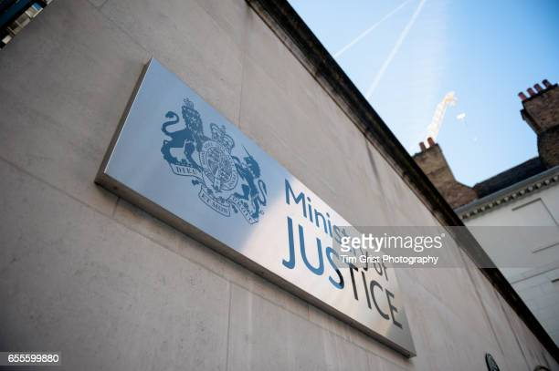 ministry of justice sign, london - ministry of justice stock pictures, royalty-free photos & images