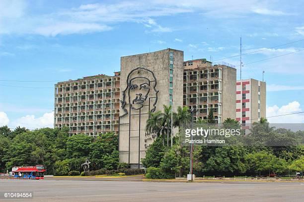 ministry of the interior, revolution square, havana - plaza de la revolución havana stock photos and pictures