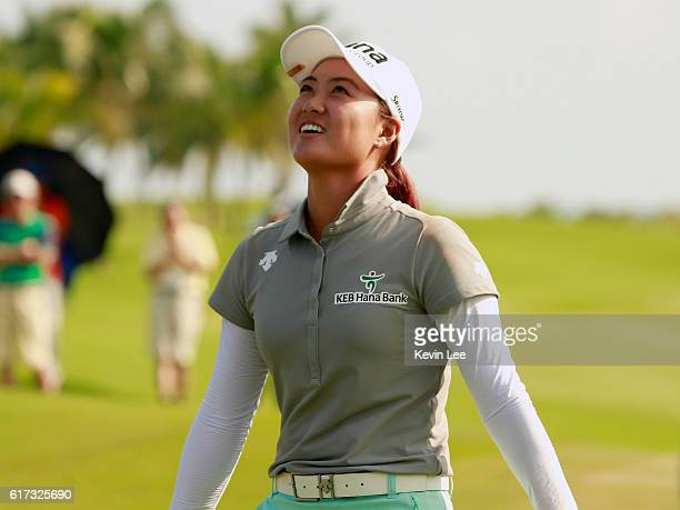 Minjee Lee of Australia after winning the final round of the Blue Bay LPGA on Day 4 on October 23 2016 in Hainan Island China