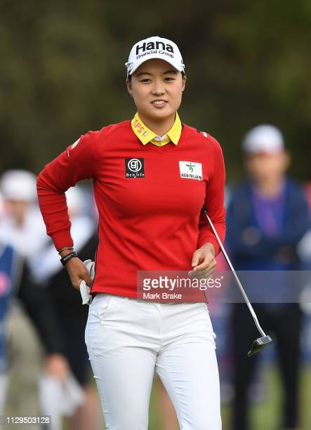 Minjee Lee of Australia during day one of the 2019 ISPS Handa Women's Australian Open at The Grange GC on February 14 2019 in Adelaide Australia