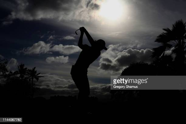 Minjee Lee of Australia hits her drive on the 18th hole during the final round of the LOTTE Championship at Ko Olina Golf Club on April 21 2019 in...