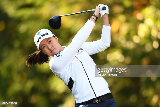 Minjee Lee of Australia hits her tee shot on the 2nd hole during the final round of the TOTO Japan Classics 2017 at the Taiheiyo Club Minori Course...