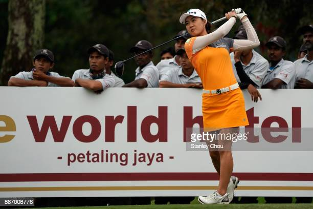 Minjee Lee of Australia in action during day two of the Sime Darby LPGA Malaysia at TPC Kuala Lumpur East Course on October 27 2017 in Kuala Lumpur...