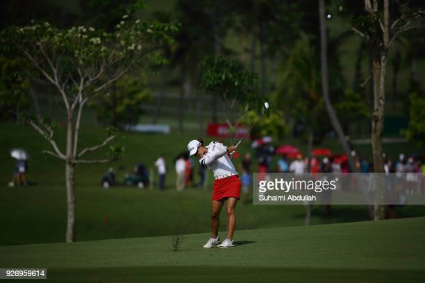 Minjee Lee of Australia in action during round four of the HSBC Women's World Championship at Sentosa Golf Club on March 4 2018 in Singapore