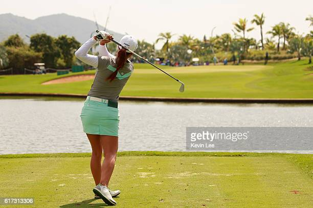 Minjee Lee of Australia in action during the final round of Blue Bay LPGA on Day 4 on October 23 2016 in Hainan Island China