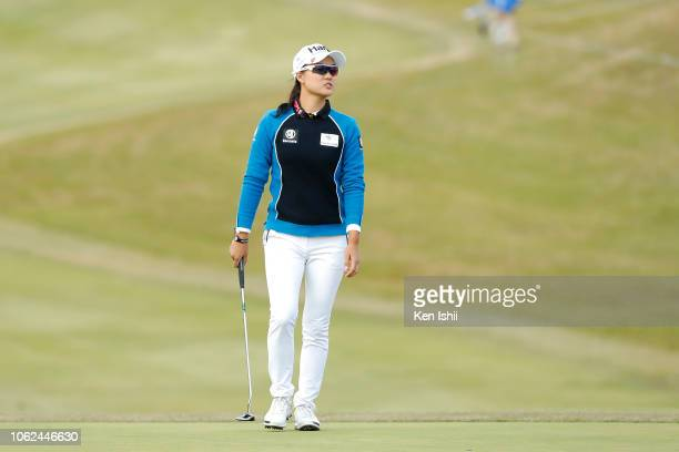Minjee Lee of Australia looks on during the first round of the TOTO Japan Classic at Seta Golf Course on November 02 2018 in Otsu Shiga Japan