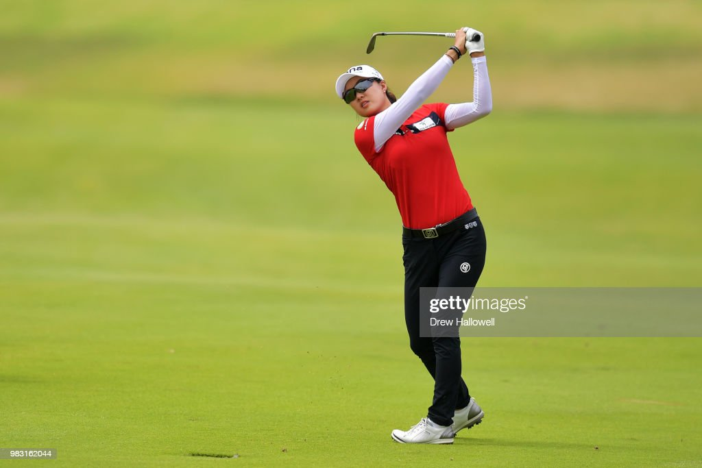 Minjee Lee of Australia plays shot on the 10th hole during the final round of the Walmart NW Arkansas Championship Presented by P&G at Pinnacle Country Club on June 24, 2018 in Rogers, Arkansas.