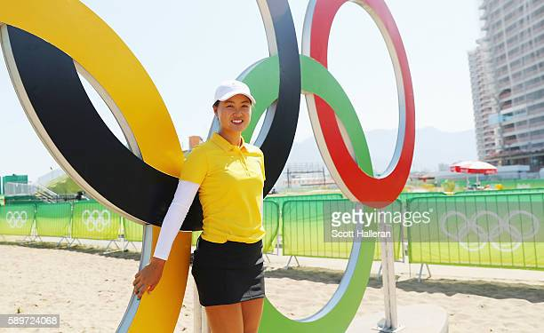Minjee Lee of Australia poses during a practice round prior to the start of the women's golf during Day 10 of the Rio 2016 Olympic Games at Olympic...
