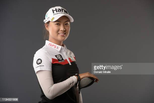 Minjee Lee of Australia poses for a portrait at the Park Hyatt Aviara Resort on March 26 2019 in Carlsbad California