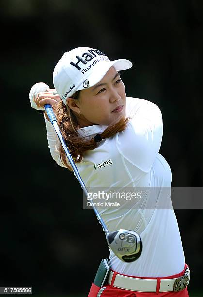 Minjee Lee of Australia tees off the 2nd hole during Round Two of the KIA Classic at the Park Hyatt Aviara Resort on March 25 2016 in Carlsbad...