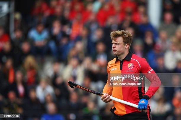 Mink Van Der Weerden of HC OranjeRood looks on during the Euro Hockey League KO16 match between HC OranjeRood and AH BC Amsterdam at held at HC...