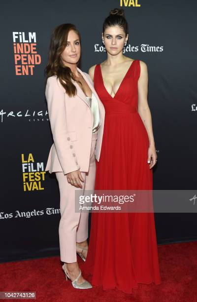 Minka Kelly and Alexandra Daddario attend the Closing Night Screening of Nomis during the 2018 LA Film Festival at ArcLight Cinerama Dome on...