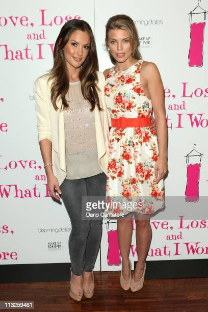 Minka Kelly and AnnaLynne McCord attend the 'Love Loss and What I Wore' new cast member celebration at B Smith's Restaurant on April 28 2011 in New...