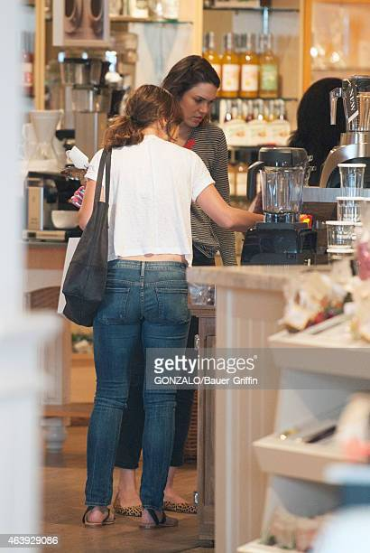 Minka Kelly and Mandy Moore are seen on February 19 2015 in Los Angeles California