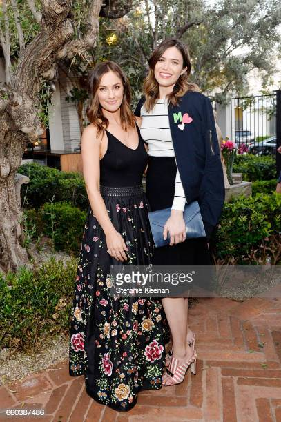 Minka Kelly and Mandy Moore attend Minka Kelly and Barrett Ward CoHost the FashionABLE Equal Pay Day kickoff Dinner at Gracias Madre on March 29 2017...