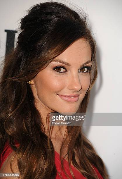 Minka Kelly arrives at the 'Lee Daniels' The Butler' Los Angeles Premiere at Regal Cinemas LA Live on August 12 2013 in Los Angeles California