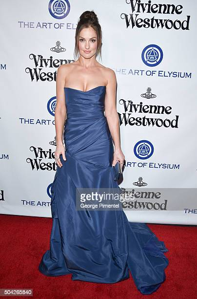 Minka Kelly attends the Art of Elysium 2016 HEAVEN Gala presented by Vivienne Westwood Andreas Kronthaler at 3LABS on January 9 2016 in Culver City...
