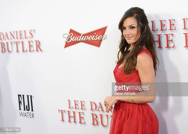 Minka Kelly attends the Los Angeles premiere of 'Lee Daniels' The Butler' at Regal Cinemas LA Live on August 12 2013 in Los Angeles California