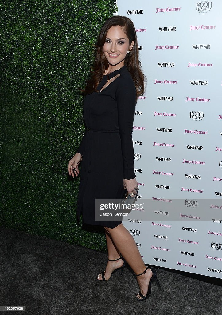 Minka Kelly attends the Vanity Fair And Juicy Couture Celebration Of The 2013 Vanities Calendar With Olivia Munn at Chateau Marmont on February 18, 2013 in Los Angeles, California.