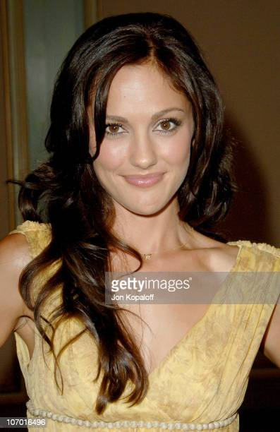 Minka Kelly during NBC 2006 Summer AllStar Party at Ritz Carlton Hotel in Pasadena California United States