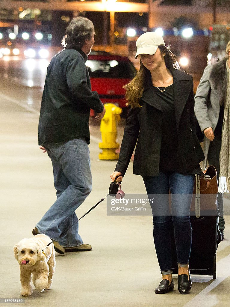 Minka Kelly is seen departing at LAX airport on November 05, 2013 in Los Angeles, California.