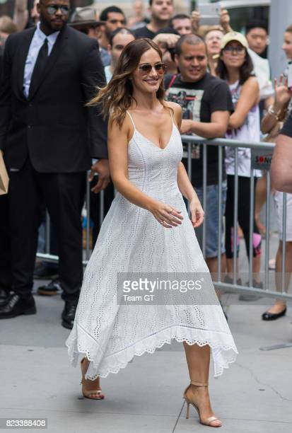 Minka Kelly is seen on July 26, 2017 in New York City.