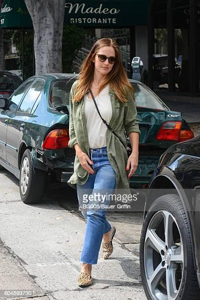Minka Kelly is seen on September 13, 2016 in Los Angeles, California.