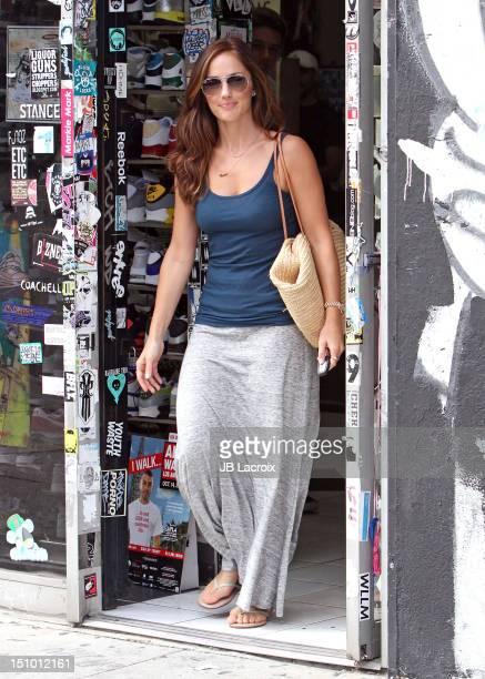Minka Kelly is seen shopping on August 30 2012 in Los Angeles California