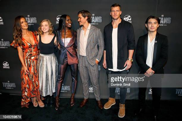 Minka Kelly Teagan Croft Anna Diop Brenton Thwaites Alan Ritchson and Ryan Potter attend 'Titans' DC Series World Premiere at Hammerstein Ballroom on...