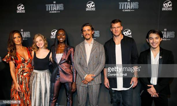 Minka Kelly Teagan Croft Anna Diop Brenton Thwaites Alan Ritchson and Ryan Potter attend Titans DC Series World Premiere at Hammerstein Ballroom on...