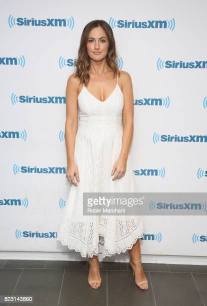 Minka Kelly visits at SiriusXM Studios on July 26 2017 in New York City