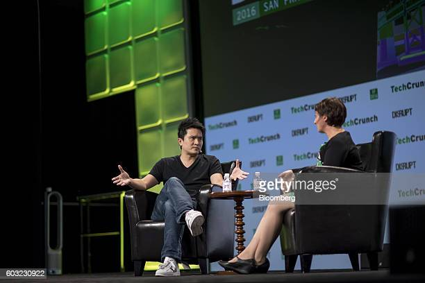 Min-Liang Tan, co-founder and chief executive officer of Razer Inc., speaks during the TechCrunch Disrupt San Francisco 2016 Summit in San Francisco,...