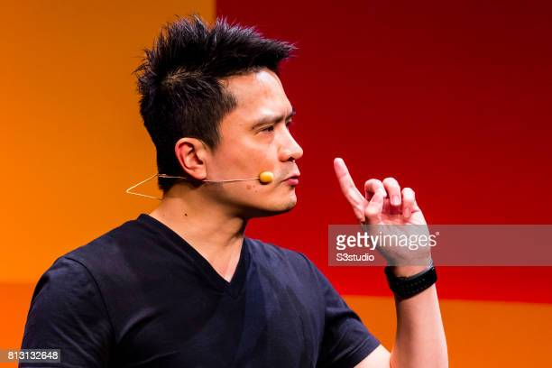 Min-Liang Tan, founder, chief executive officer and creative director of Razer, attends the Day 2 of the RISE Conference 2017 at the Hong Kong...